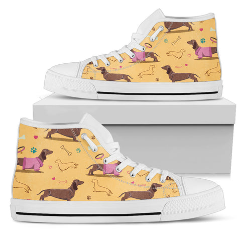 Lots of Dachshunds Women's High Top Shoes for Dachshund Lovers