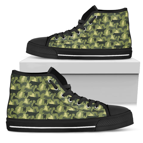 Camouflage Siberian Husky Men's High Top