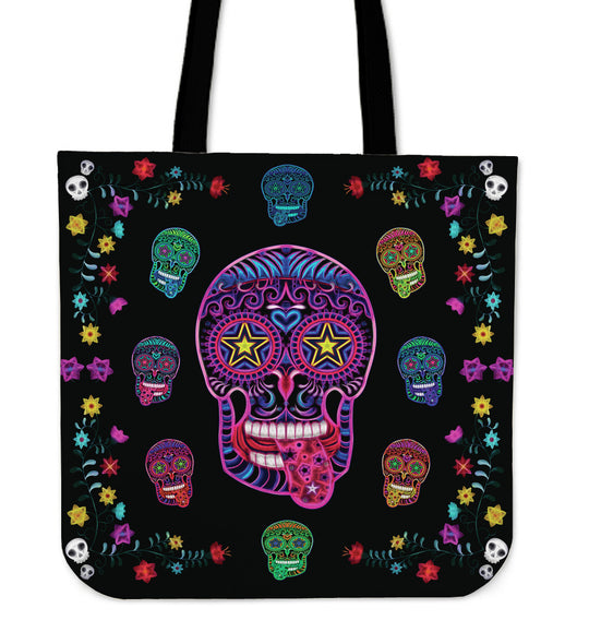 Sugar Skull Superstar Tote Bag for Lovers of Skulls