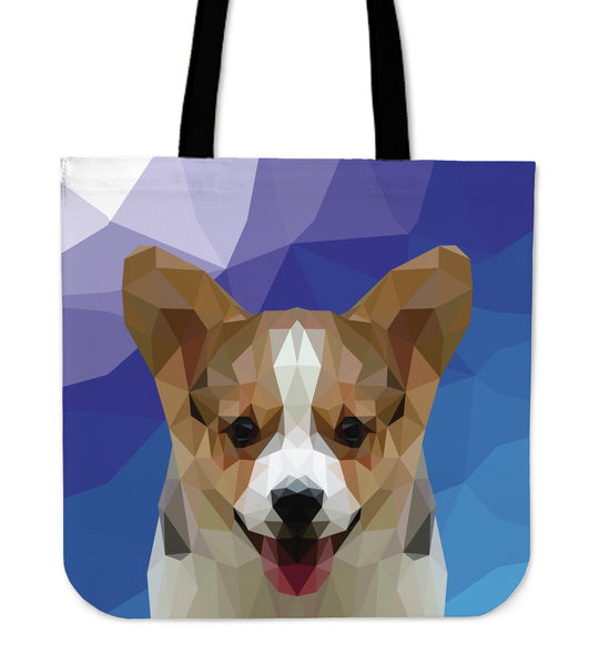 Corgi Dog Modern Art Tote Bag for Lovers of Corgis