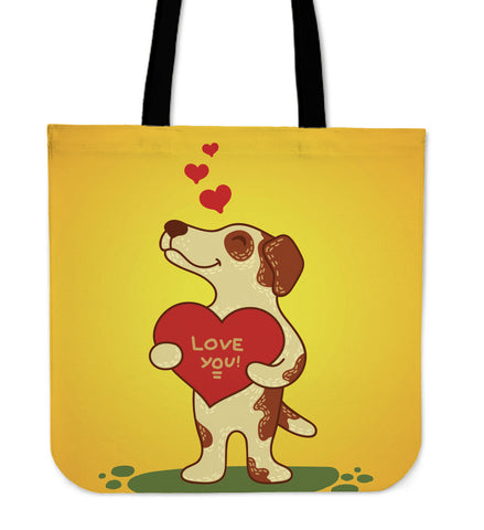 Love You Jack Russell Terrier Tote Bag for Lovers of Jack Russells