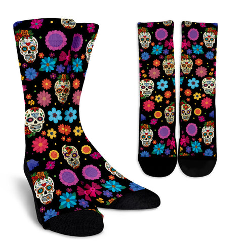 Sugar Skull Party Socks for Lovers of Skulls
