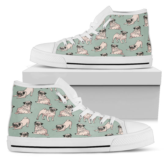Pug Dog Women's High Top Shoe