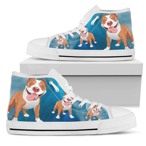 i love pitbull high tops women's