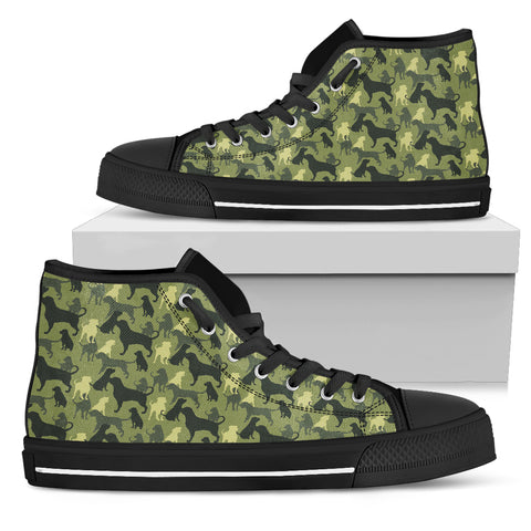 Camouflage Rottweiler Green Women's High Top