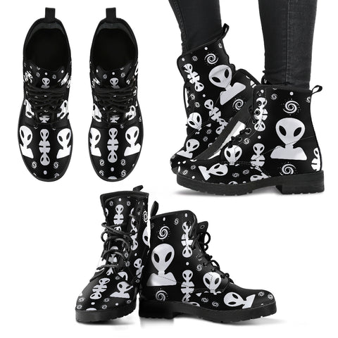 Aliens On My Mind Vegan Leather Boots in Men's and Women's Sizes