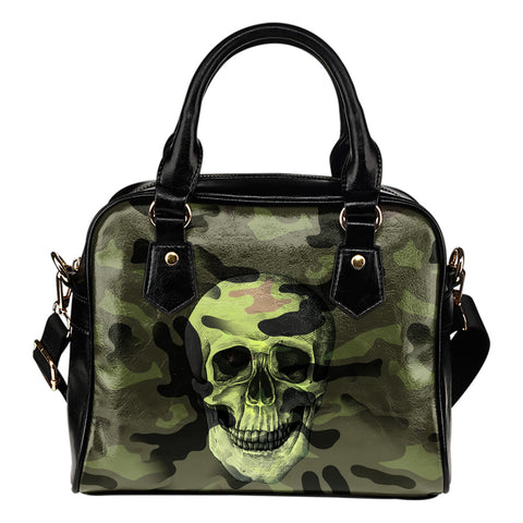 Camo Skull Shoulder Handbag