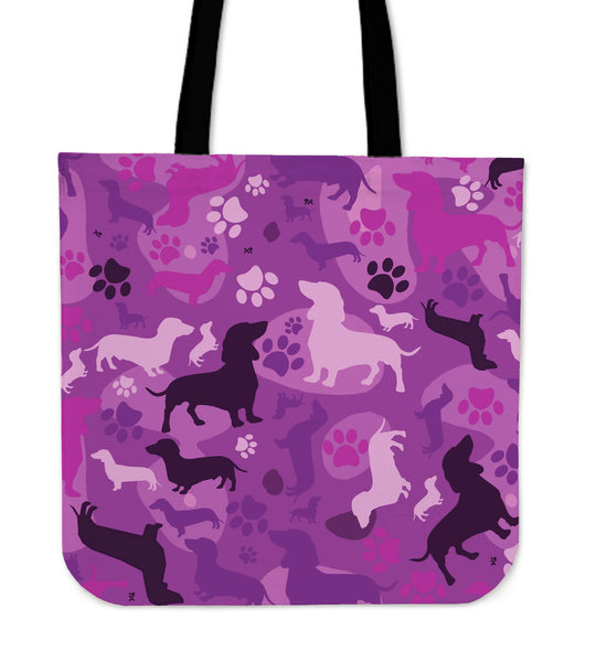 Dachshund Pink Camo Tote Bag for Lovers of Dachshunds