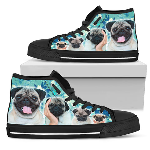 Blue Pugs Women's High Top