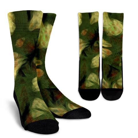Abstract Camo Hidden Skulls Crew Socks