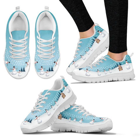 Snow Man White Christmas Women's Sneakers