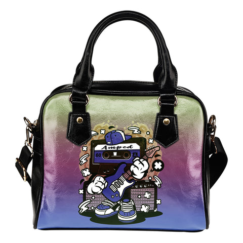 Amped Guitar Shoulder Handbag for Musicians and Music Freaks