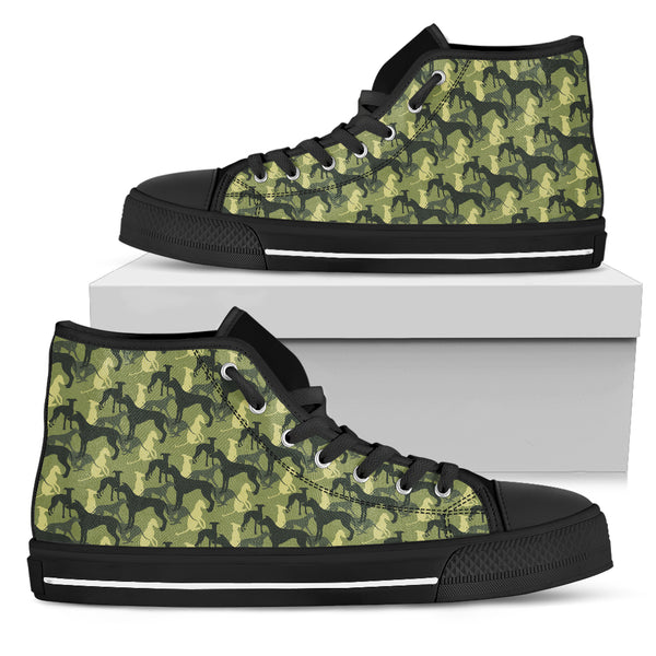 Camouflage Greyhound Green Women's High Top