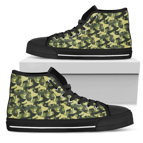 Camouflage Boxer Military Women's High Top