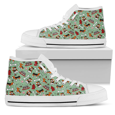 Beagle Lover Shoes - Women's High Top