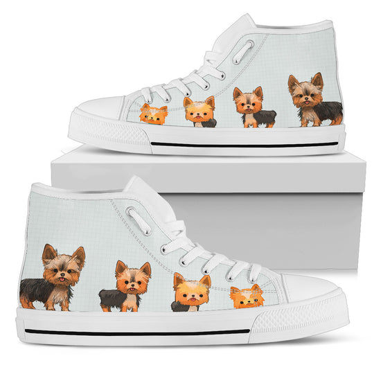 Yorkshire Terrier White High Top