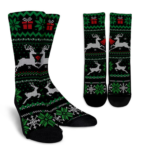 Christmas Pattern Reindeer Socks