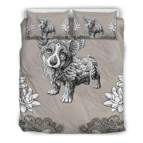 Corgi Art Duvet Cover & Pillow Cases Bedding Set for Lovers of Corgis