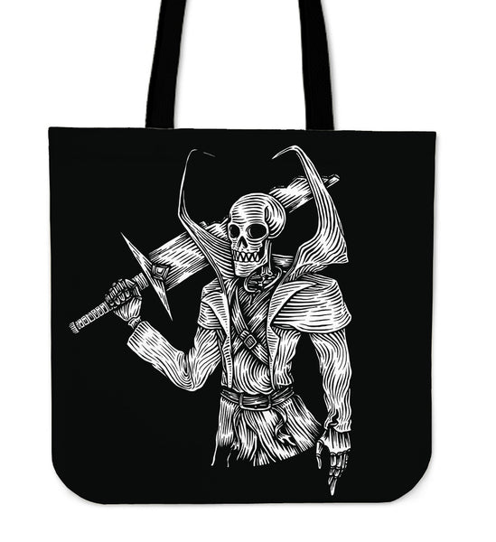 Skull Warrior Tote Bag for Lovers of Skulls