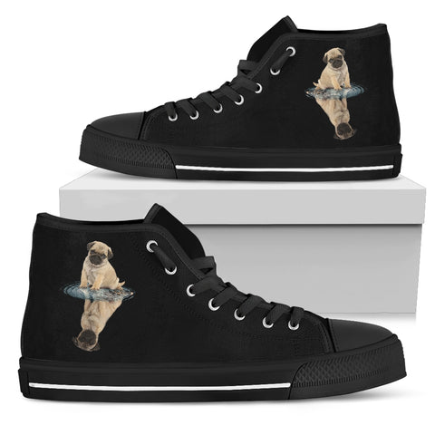 Pug Dream Reflect Water Men's High Top