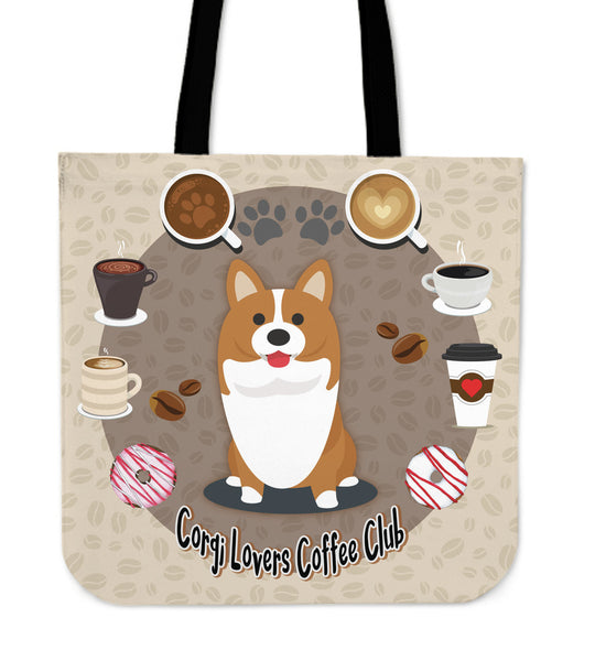 Corgi Lovers Coffee Club Tote Bag