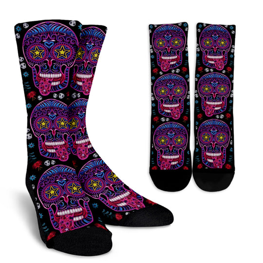 Sugar Skull Superstar Socks for Lovers of Skulls