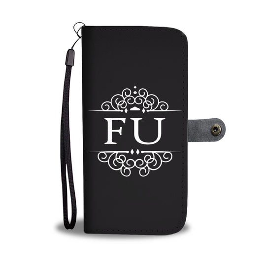 FU Wallet Phone Case Black