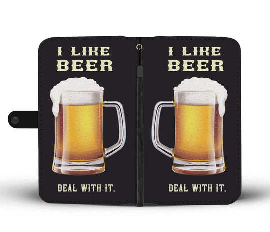 I Like Beer Deal With It Wallet Phone Case