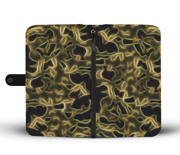 Fractal Camo Wallet Phone Case Green for Camouflage Lovers