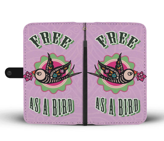 Free As A Bird Wallet Phone Case