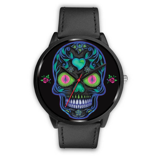 Wicked Skulls Sugar Skull Watch 2 Blue