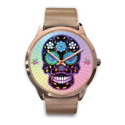 Sugar Skull Lover Watch for Lovers of Sugar Skulls Rose Gold