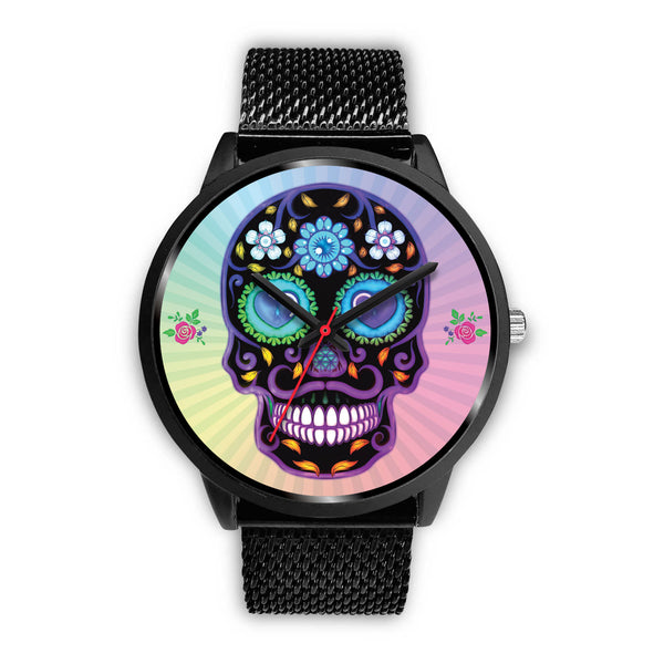 Sugar Skull Lover Watch for Lovers of Sugar Skulls Black