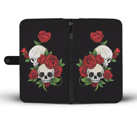 Skulls and Roses Wallet Phone Case
