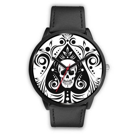 Skull Tattoo Design Watch White