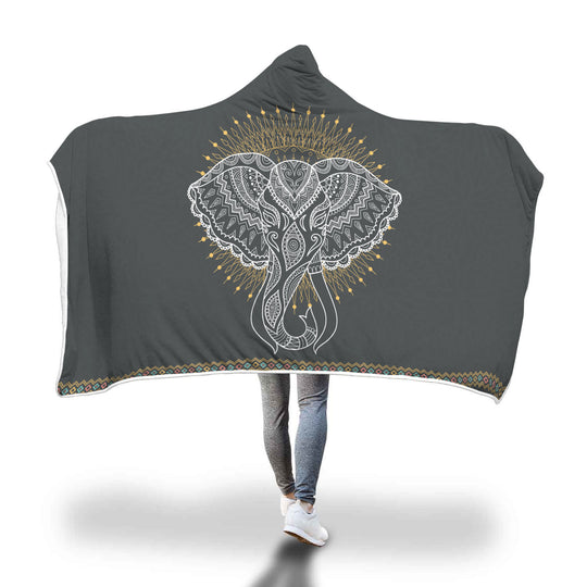 Elephant Hooded Blanket for Lovers of Elephants