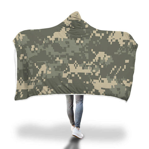 Digital Camo Hooded Blanket for Camouflage Lovers