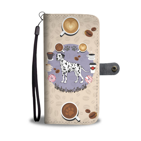 Dalmatian Lovers Coffee Club Wallet Phone Case