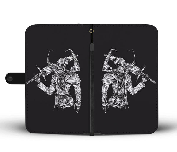 Skull Warrior Wallet Phone Case for Lovers of Skulls