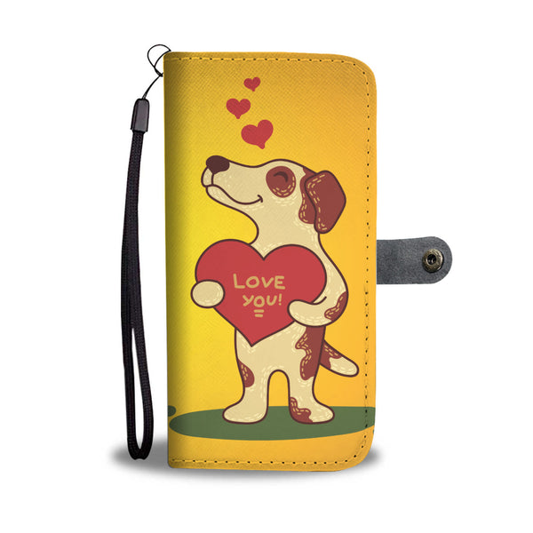 Love You Jack Russell Terrier Wallet Phone Case for Lovers of Jack Russells