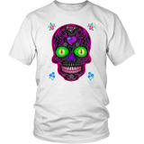 Wicked Skull District Unisex T-Shirt for Lovers of Sugar Skulls