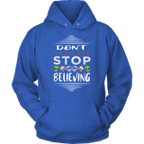 Don't Stop Believing in Aliens Unicorns Skulls Unisex Hoodie