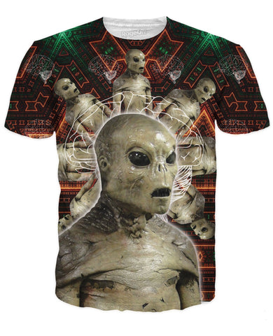 Tripping Space Alien Brain T-Shirt All Over Print