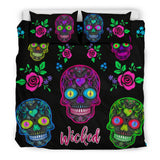 Wicked Skulls Bedding Set