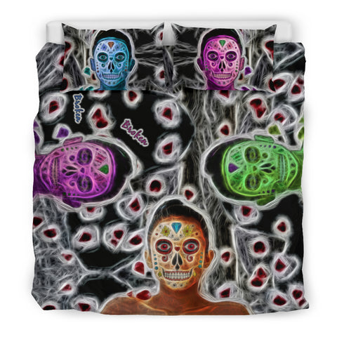 Sugar Skulls Bedding Set Broken