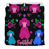 Faithful Poodles Bedding Set Cute Dog Poodle Dogs