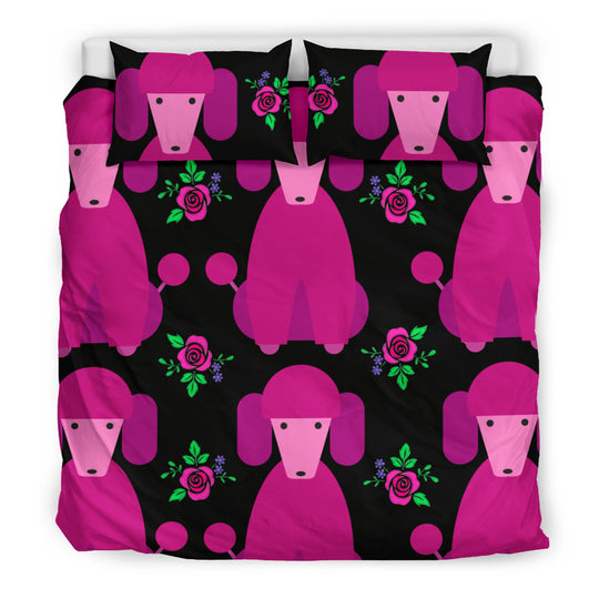 Pink Poodles Bedding Set
