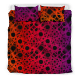 The Neon Dark Web Bedding Set