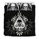 Skull Tattoo Design Bedding Set Black