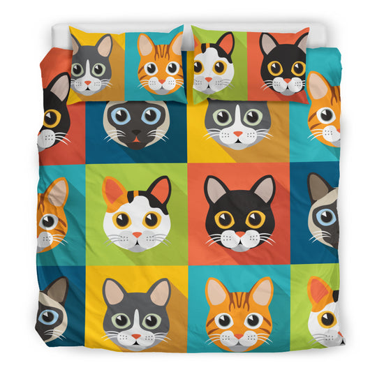Cute Cats Bedding Set for Cat Loverz